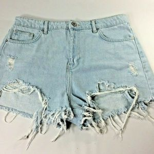 Forever 21 Womens High Rise Jean Shorts Sz 30